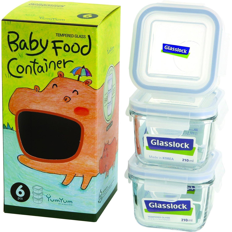 Glasslock 6-Piece Square Baby Box Set, Mini (3 count)