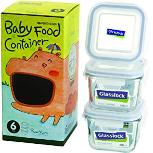 Glasslock 6-Piece Square Baby Box Set, Mini (3 count)