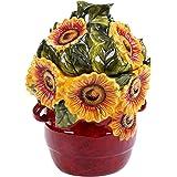 "Certified International 13992 Sunflower Meadow 3D Cookie Jar, 11"", Multicolor"