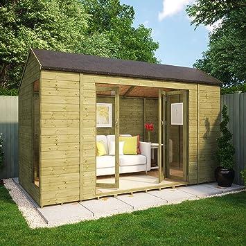 Pressure Treated 12 X 6 Monte Carlo Wooden Garden Summerhouse