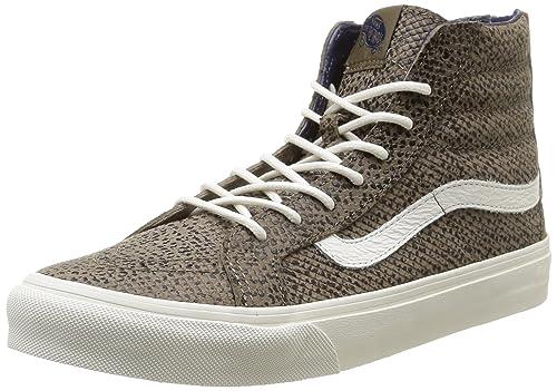 Vans U Sk8-Hi Slim Zip Cheetah Suede - Zapatillas Bajas Unisex  Amazon.es   Zapatos y complementos 0a2dd6a744b