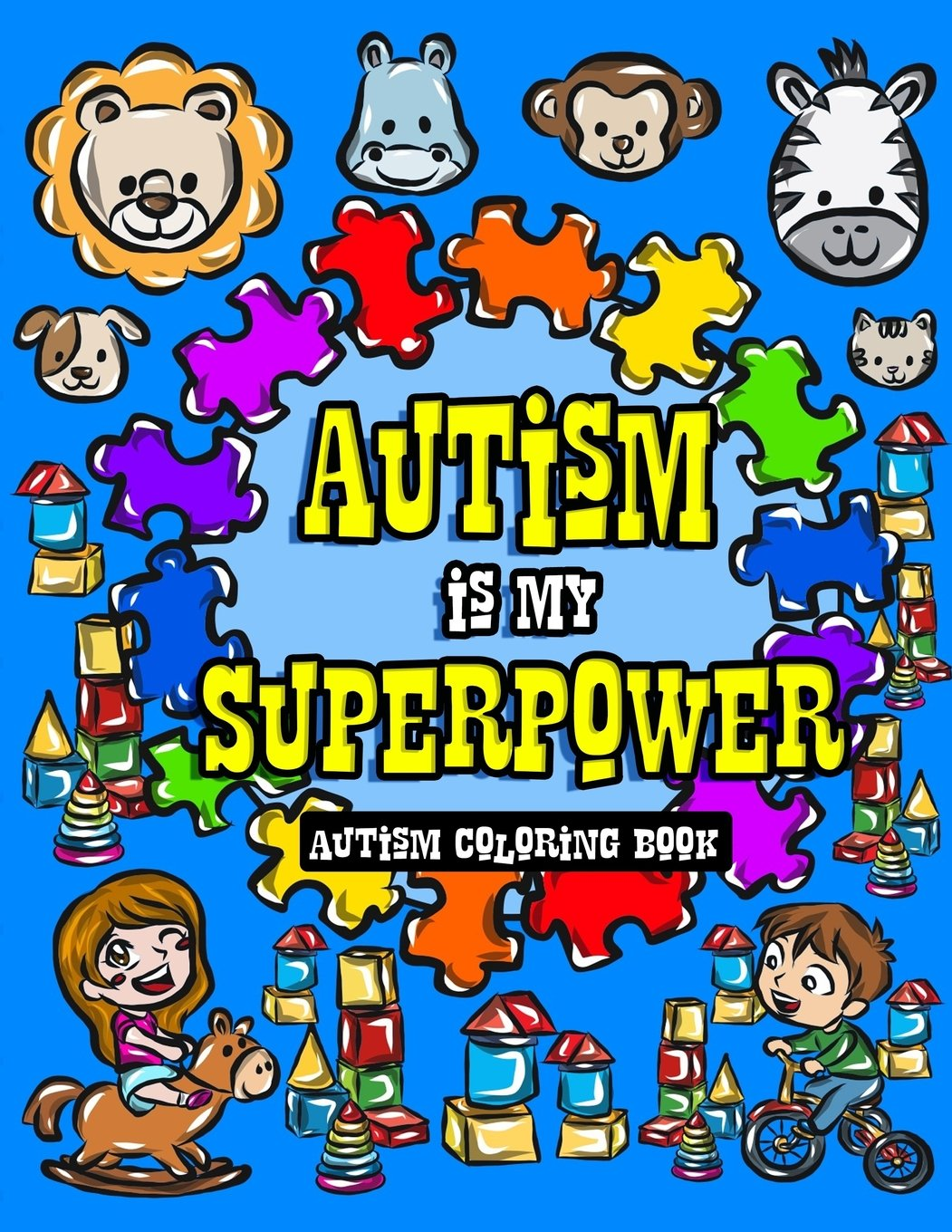 Autism Coloring Book Differently Superhero