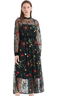 LILYSILK Robe en Soie Robe Floral pour Femme Doublure Pure Soie Robe de  Princesse Casual Chic e14647dd4bb8