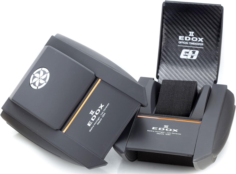 Edox Men s 77001 TINR NIR Class 1 Automatic Black Dial Watch