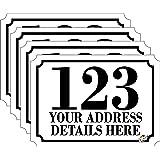 Pegatinas con número y nombre de carretera para papeleras con ruedas, vinilos de tamaño A6, juego de 4unidades