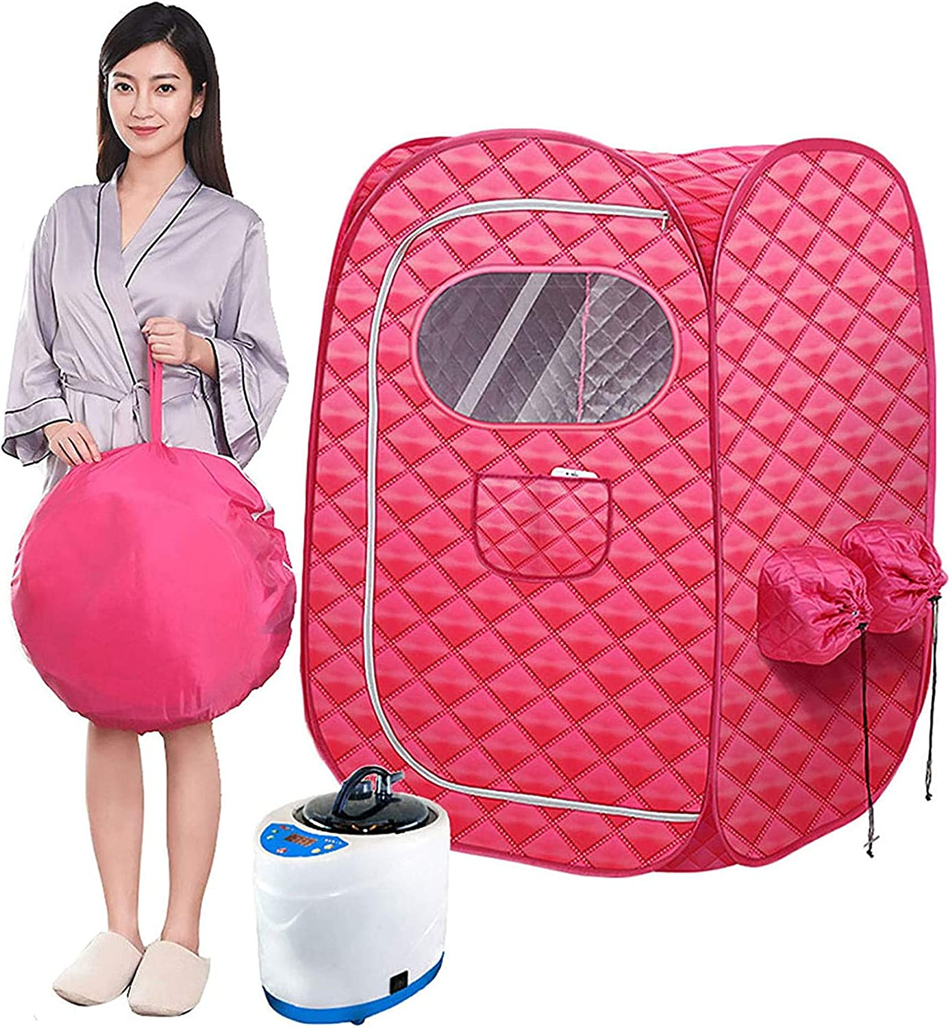 Yaad Portable Steam Sauna Spa, Folding 3L Dual Treatment Sauna with Remote Control, Weight Loss Detox Relaxes Weight Loss at Home
