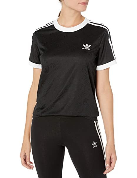 adidas originals retro 3 stripes t shirt black