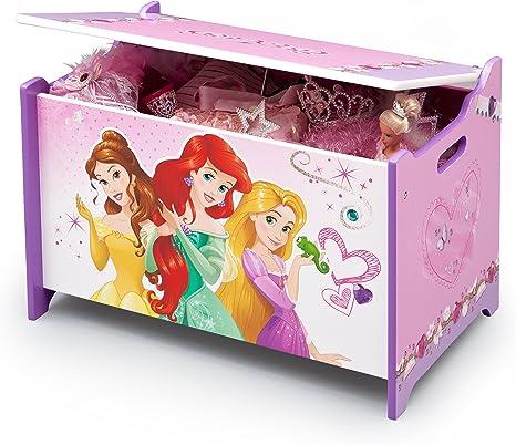 Caja de juguetes de madera de princesas Disney (rosa): Amazon.es: Bebé