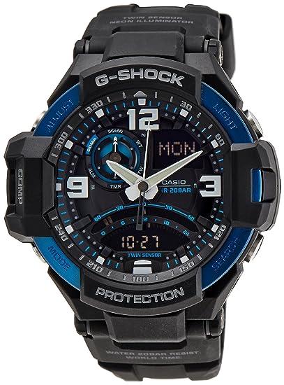 6b422370112f Casio Malla Me Up G SHOCK Cuarzo  Batería Reloj (Modelo de Asia) GA-1000-2B   Casio  Amazon.es  Relojes