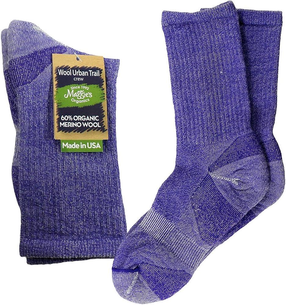 Maggies Organic Urban Crew Socks Purple Size 9-11