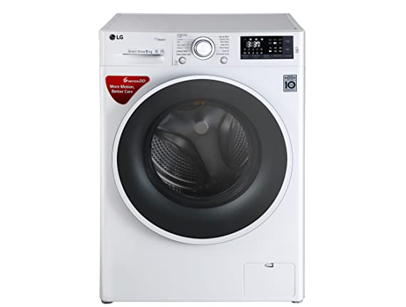 LG 6 kg Fully-Automatic Front Loading Washing Machine (FHT1006SNW.ABWPEIL, White)
