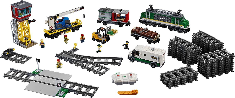 City Cargo Train Series Building Blocks with motor remote control Compatible