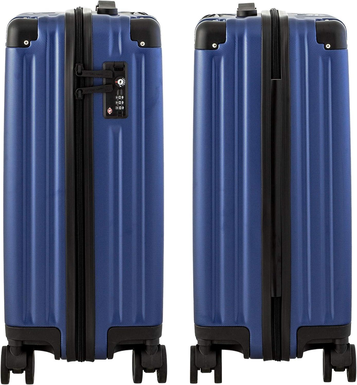 Bleu - HT2x28-1701-DB Happy Trolley Dubai DXB Valise Rigide /à roulettes 4 roulettes TSA Bleu fonc/é S, M et XL