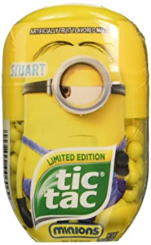 Amazon.com : Limited Edition Minions Stuart Tic Tac 3.4 oz : Grocery & Gourmet Food