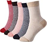 5 Pairs Winter Warm Cotton Ladies Women Socks Knitting Pure Vintage Floor Sock Bed Socks UK(4~6) EU(35-42)…