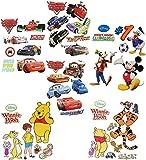 1 Set: Wandtattoo / Sticker - für Jungen - Disney Cars - Mickey Mouse - Winnie the Pooh - Wandsticker Aufkleber Wandaufkleber für Kinder