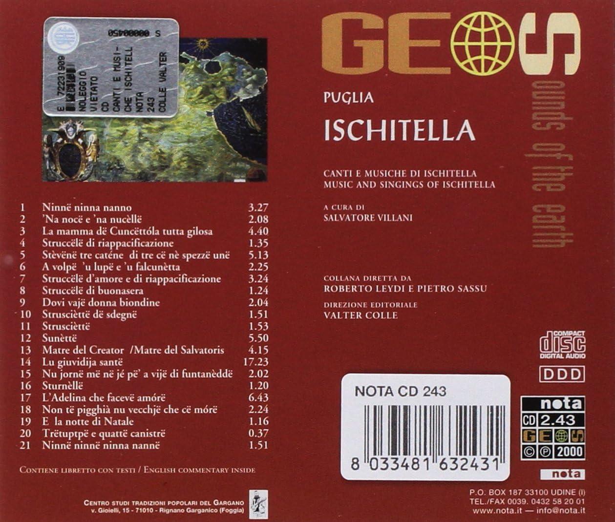 Puglia Ischitella: Canti E Musiche Di Ischitella: A Cura Di Salvatore  Villani: Amazon.it: Musica