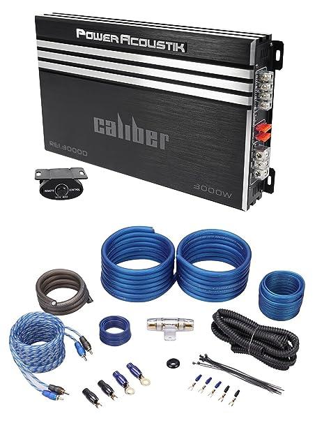 Amazon.com: Power Acoustik RE1-3000D 3000 Watt Mono Amplifier Car Stereo Amp+Wire Kit: Car Electronics