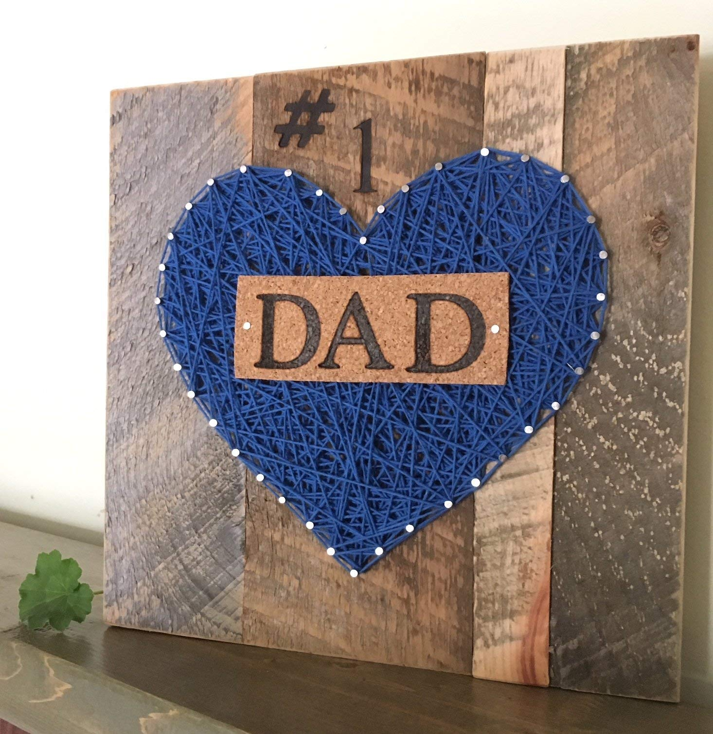 #1 Dad Nail String Art sign for the best dad ever! A special and unique gift for Father's Day from the kids. Great Birthday and just because gifts.