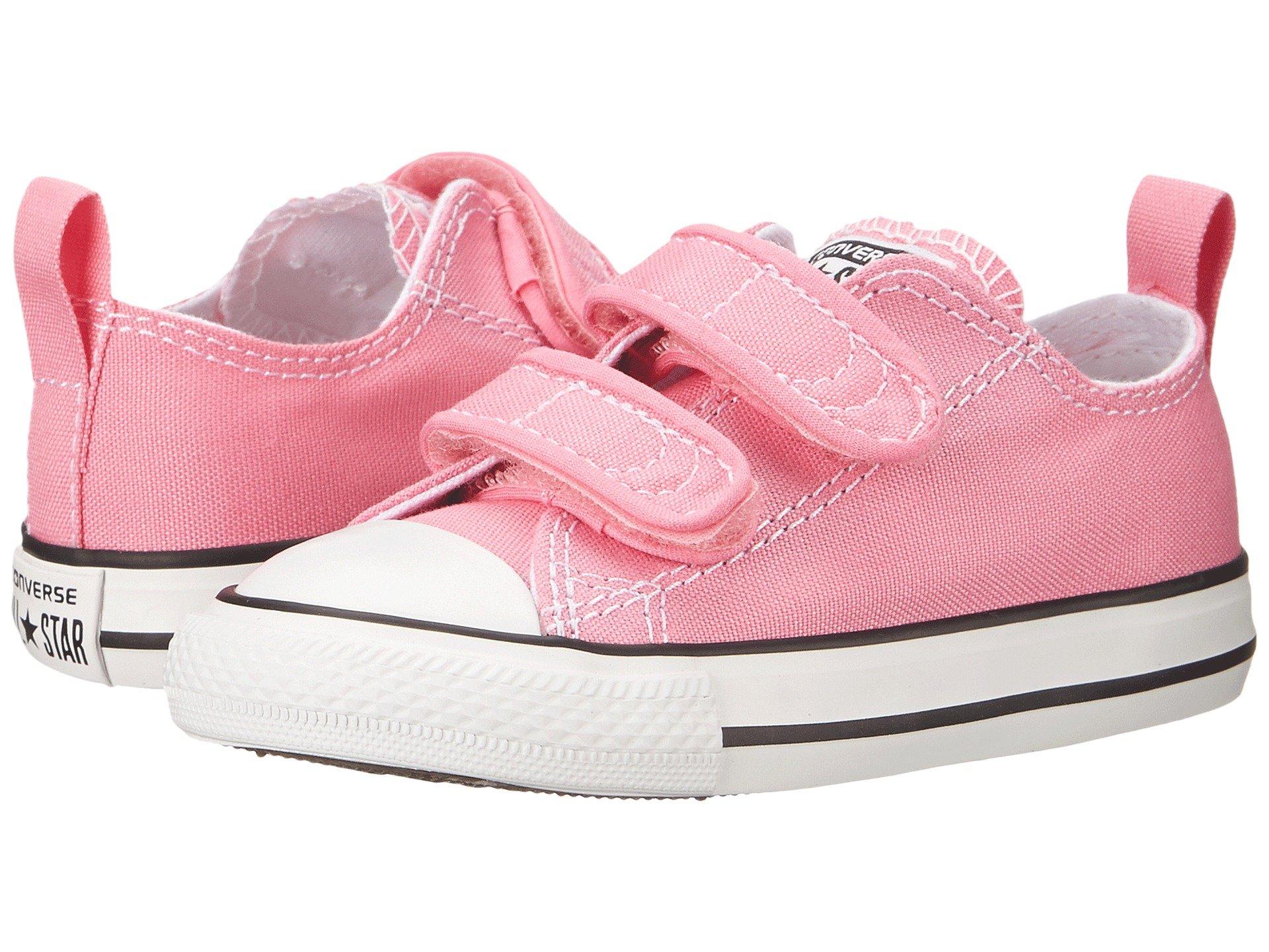 Converse Kids' Chuck Taylor 2v Ox (Infant/Toddler) (4 M US Toddler, 2V-Pink)