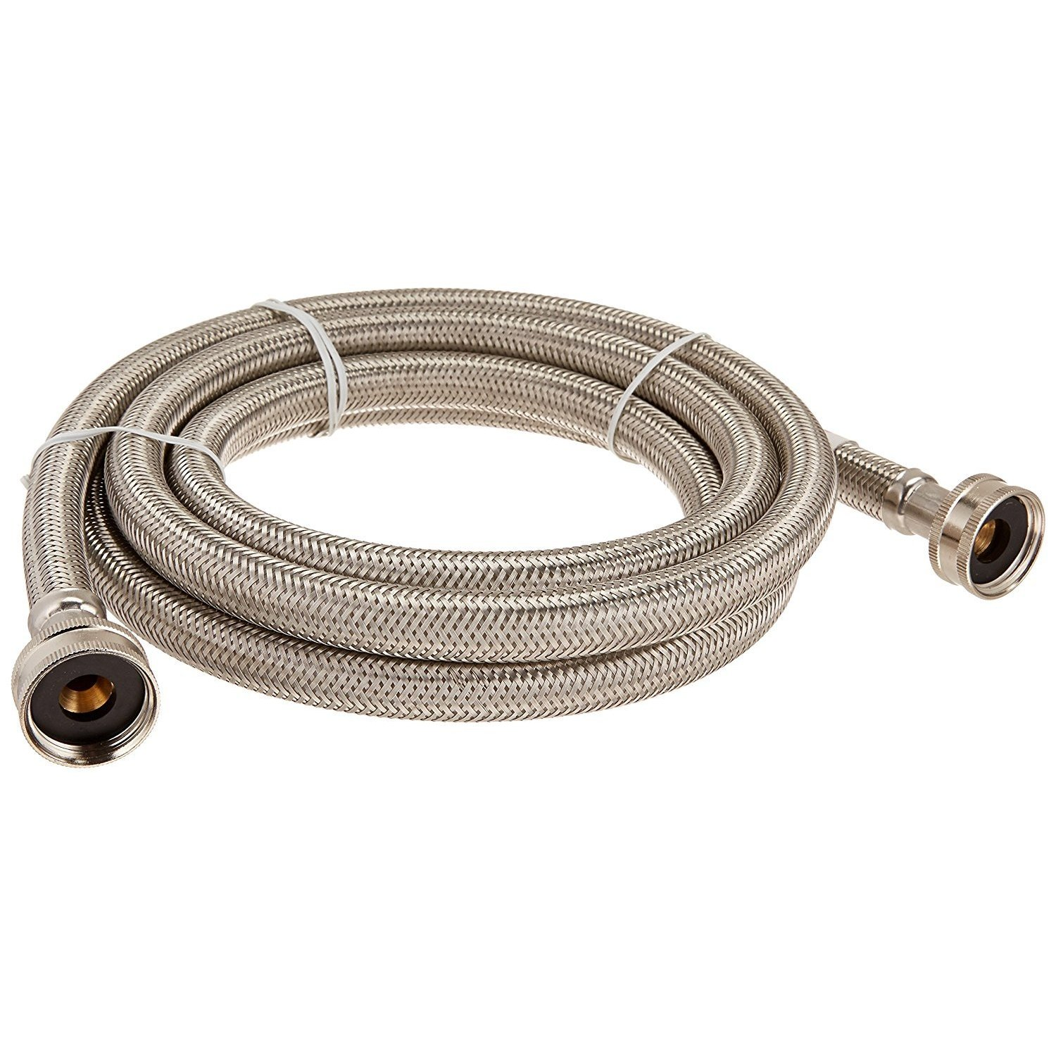 By-Certified Appliance Washing Machine Connector, Wm96ss 8ft .75in-fgh .5in-ld Wash Machine Connector