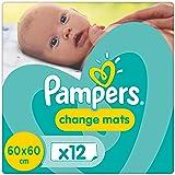 Pampers Change Mats Wickelunterlage, Einzelpackung, 1er Pack (1 x 12 Stück)