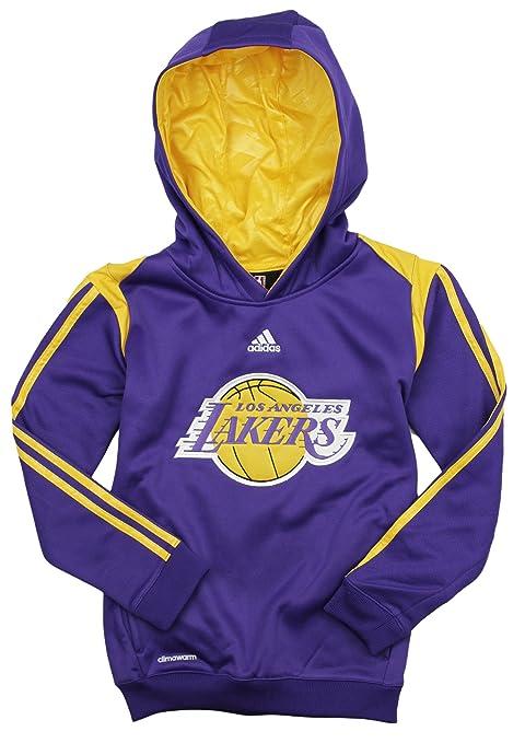 newest a49ab 8af07 adidas Los Angeles Lakers NBA Big Boys On Court Hoodie - Purple