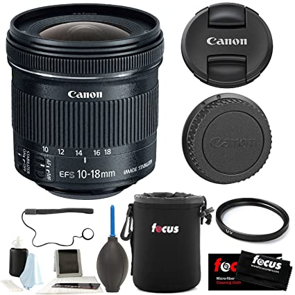 9057b0a241669 Amazon.com   Canon EF-S 10-18mm f 4.5-5.6 is STM Lens with 67mm UV  Protector and Accessory Bundle   Camera   Photo