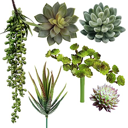 8 Set of 3 Assorted Artificial Succulent Stem Picks
