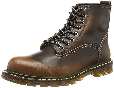 0caaa44465c184 tqgold Unisex Herren Damen Leder Stiefel Warm Gefütterte Kurzschaft Boots  Schneestiefel Smooth Stiefeletten für Herbst-