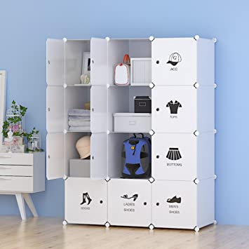 Unicoo   Multi Use DIY Plastic 12 Cube Organizer, Toy Organizer, Bookcase,  Storage