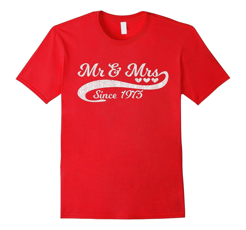 44th Wedding Anniversary T Shirt Vintage Distressed Look-TH