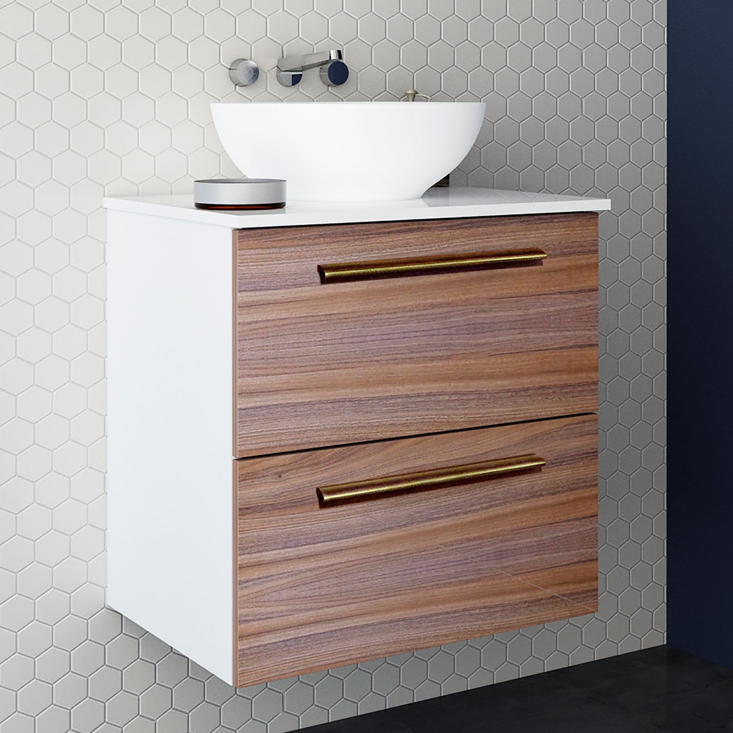 Randalco 24 Inch Maine Solid Surface Modern Bathroom Vanity Cabinet