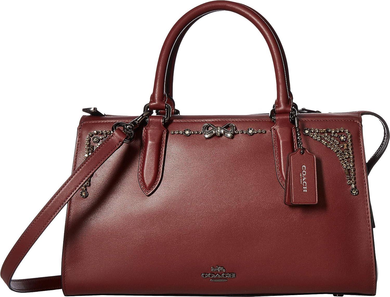 fc525d73be COACH Women s Crystal Embellished Selena Bond Bag Gunmetal Wine One Size   Handbags  Amazon.com