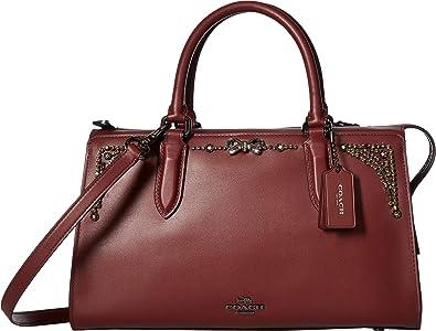 199e0a177c58 COACH Women s Crystal Embellished Selena Bond Bag Gunmetal Wine One Size   Handbags  Amazon.com