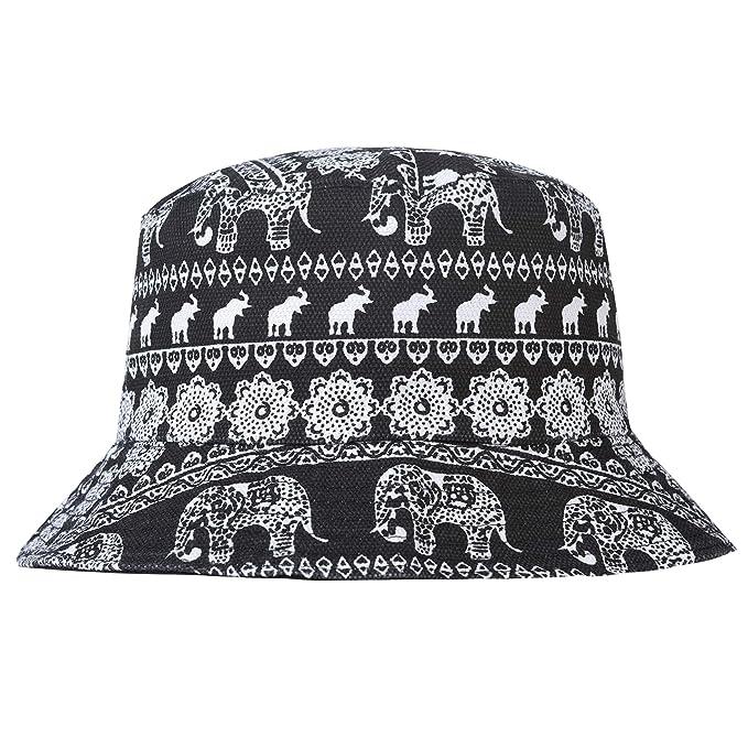 b5e3bcdc7c3 ZLYC Men s Bucket Hat One Size Fits All - White - Medium  Amazon.co ...