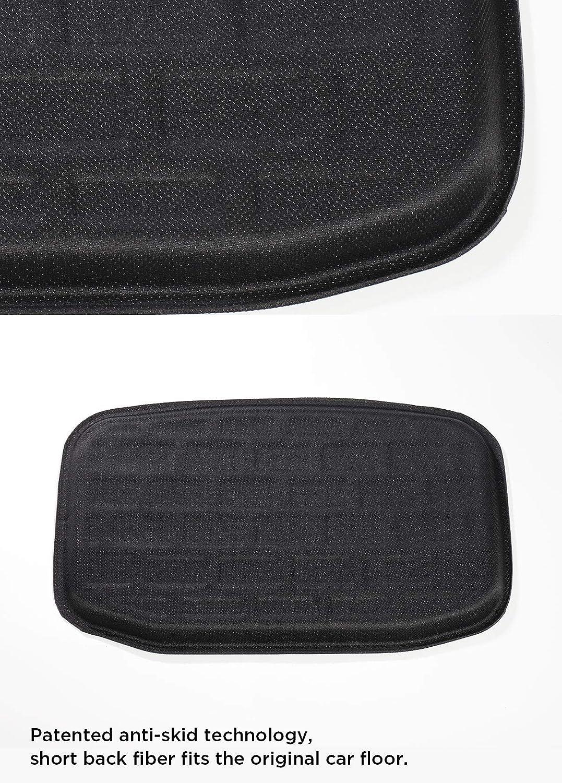 LUCKEASY for Tesla Model 3 Car Super Light Stamping Waterproof TPE Foot Mat//Front and Rear Trunk Mat//Rear Trunk Underlay Mat Floor mat