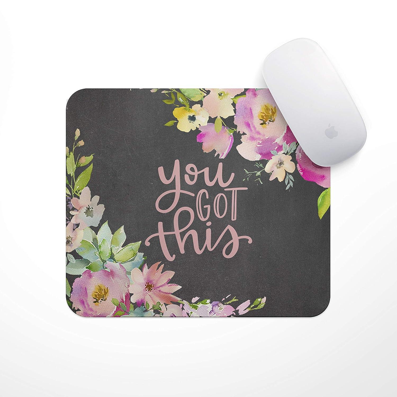 感動的な引用句入りマウスパッド (You Got This Floral Drop) B07NKSNS51