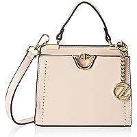 Zeneve London Womens Satchel Bag, Beige White - 1197815000