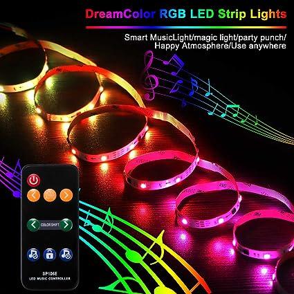 ONEVER Sound aktiviert Wireless RF Remote Dream Farbe LED-Controller 9 Tasten Fernbedienung LED-Musik-Controller 1