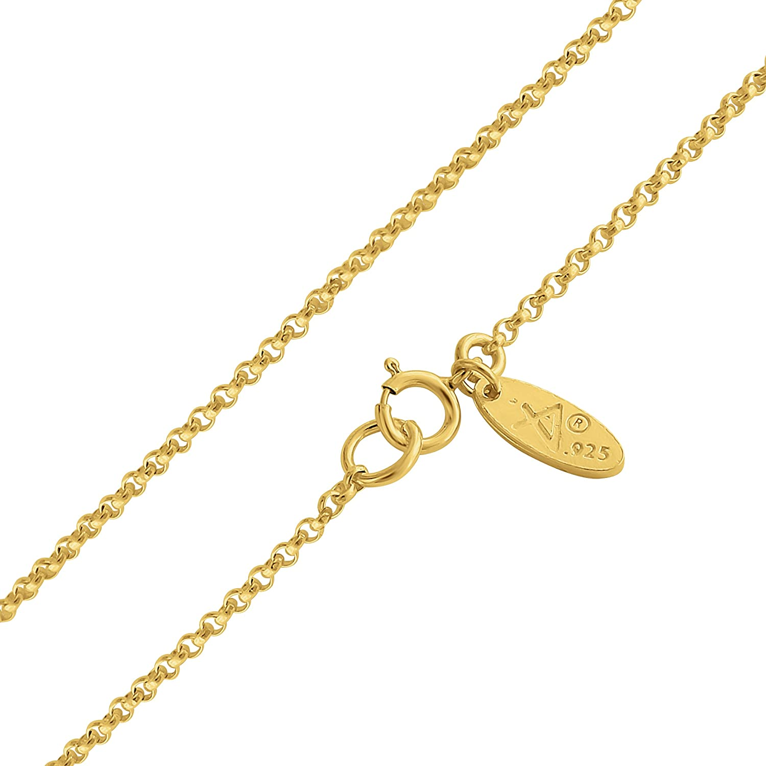 24 Azaggi Gold Plated Sterling Silver Handcrafted Initial Letter F Personalized Symbol Pendant Necklace