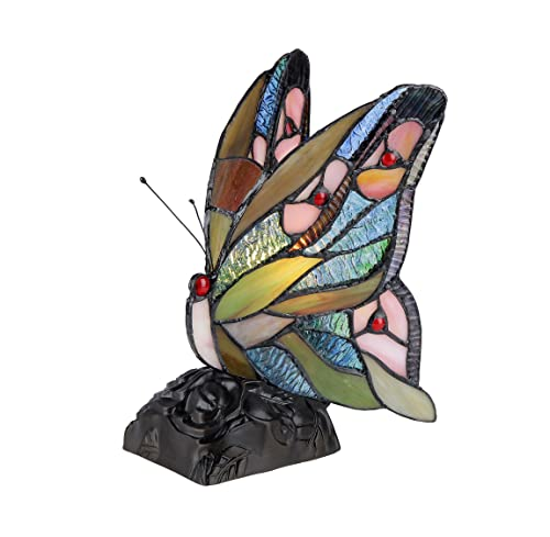 Chloe Lighting CH33300BM05-NL1 Jacy 6 Tiffany-Style Butterfly 1 Light Accent Table Lamp 10 Tall