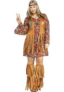 4d032653a2 Amazon.com  Fun World Women s Peace Love Hippie Costume  Clothing