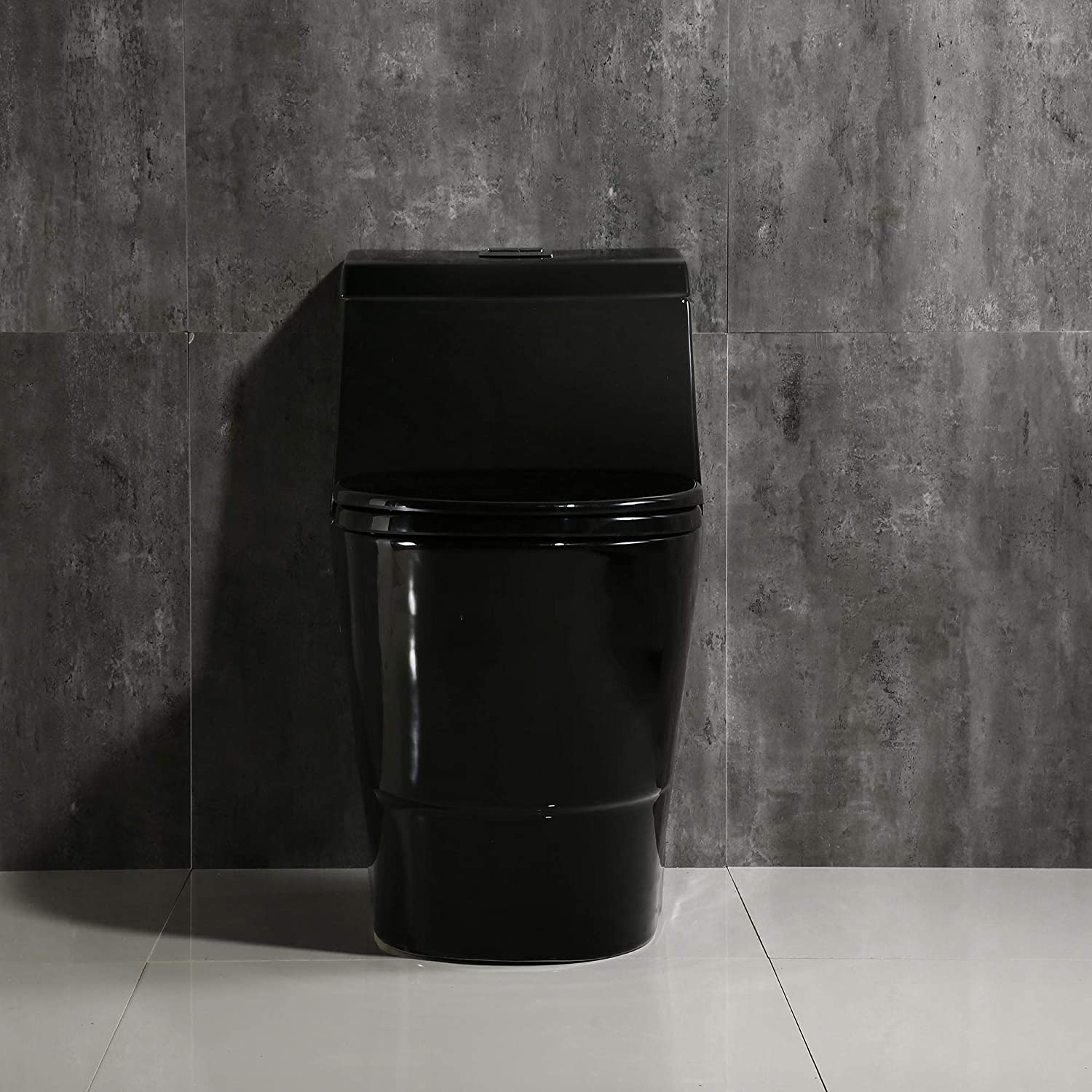 Woodbridge B0941 Modern One Piece Toilet with Soft Closing Seat,Black Color