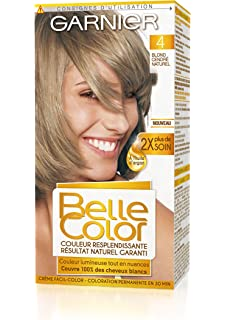 garnier belle color coloration permanente blond 04 blond cendr naturel - Coloration Eclaircissante Blond