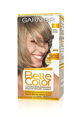 garnier belle color coloration permanente blond 04 blond cendr naturel - Coloration Blond Cendr Sur Roux