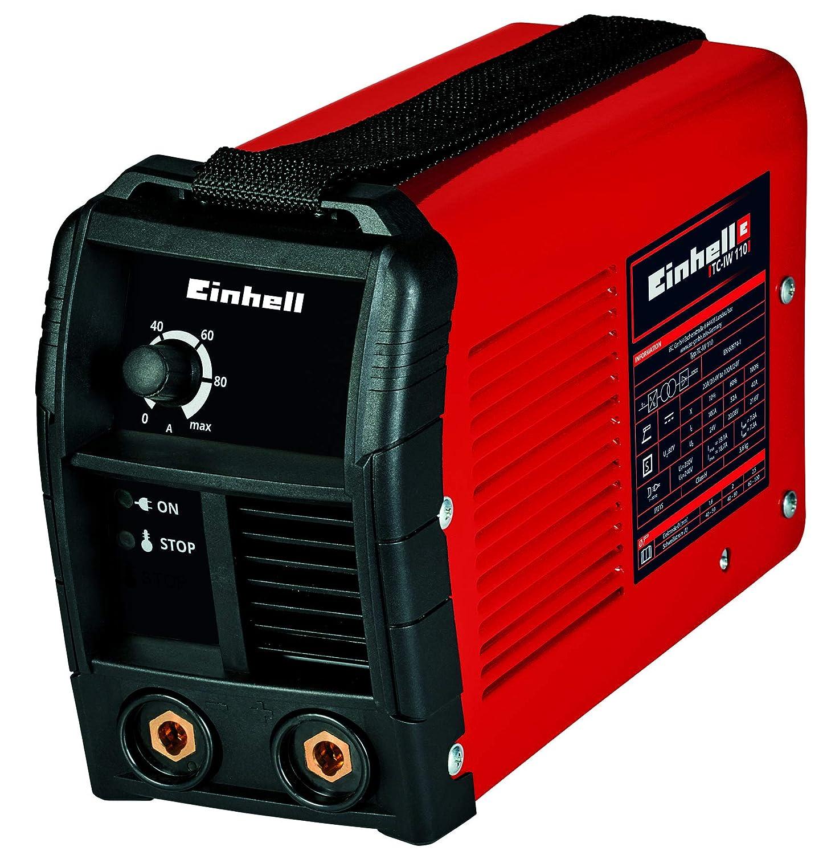 Einhell 1544160 Soldador Inverter TC-IW 110 Corriente 10-100 a, Rojo ...