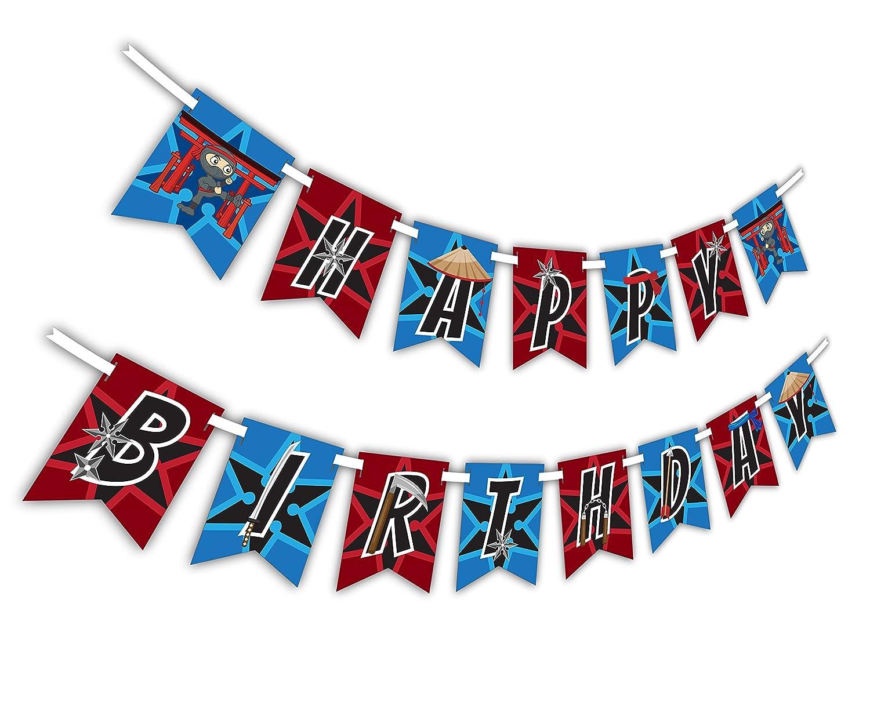 Amazon.com: Ninja Warrior Happy Birthday Party Banner ...