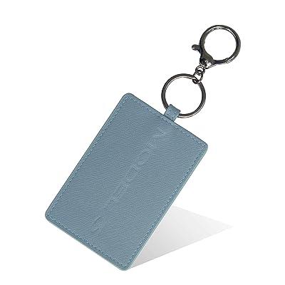 DeCuLo Key Card Holder for Tesla Model 3, PU Car Key Cover Shell Protector Case Holder for Tesla S Accessories (Blue-PU, Model 3): Automotive