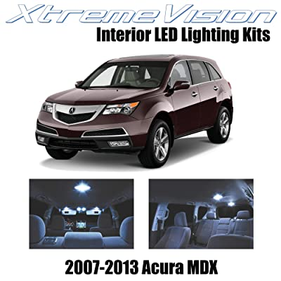 XtremeVision Interior LED for Acura MDX 2007-2013 (13 Pieces) Cool White Interior LED Kit + Installation Tool: Automotive [5Bkhe0916127]